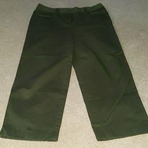Christopher & Banks Olive green half pants